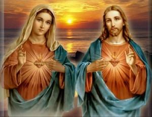 Srdce Pána Ježíše a srdce Panny Marie