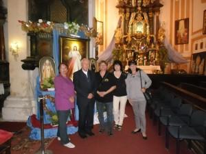 poutníci ke Svaté bráně v Liběšicích u Žatce