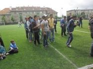 Fotbalový zápas v Kobylisích 2013