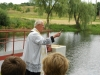 žehnání rybníka Velemyšleves