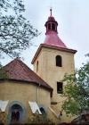 Dokončení opravy kostel Břvany 2004