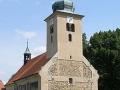 Kostel Lenešice zvenku před zřícením