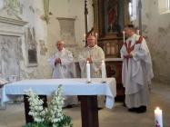 mše v kostele Bitozeves k 700 výročí obce