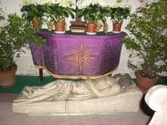 výzdoba kostela Lenešice Svatý týden