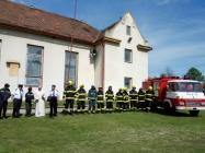 žehnání nového hasičského auta Lenešice