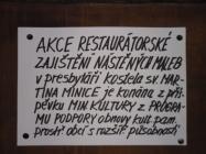 Restaurování nástěnných fresek v kostele Minice
